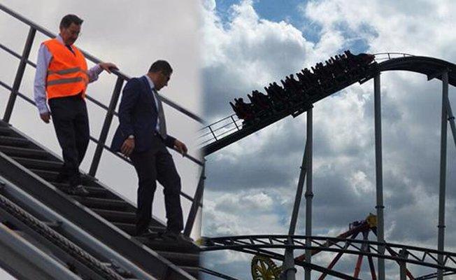VİDEO | Gökçek'in'roller coster' rezilliği: Turizmcilerle havada asılı kaldı
