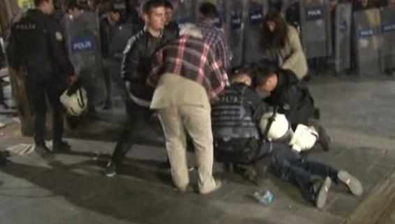 Ankara'da açlık grevine destek eylemine geceyarısı saldırısı