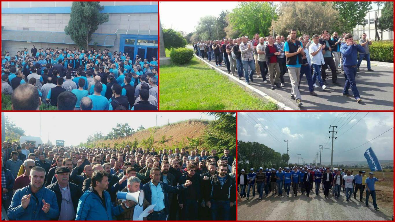 VİDEO | Cam işçileri grev yasağına karşı ayakta: Fabrikalarda üretim durdu