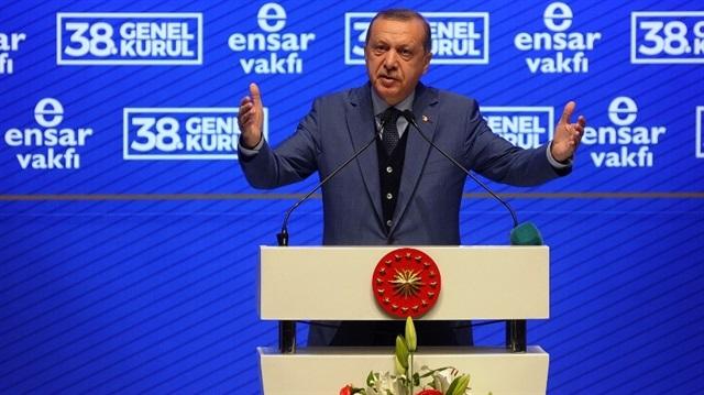 Erdoğan malum vakfın kürsüsünde: Ensar Vakfı gibi STK'lar ilim, irfan ve ahlak abidesi bir nesil ortaya koymalı