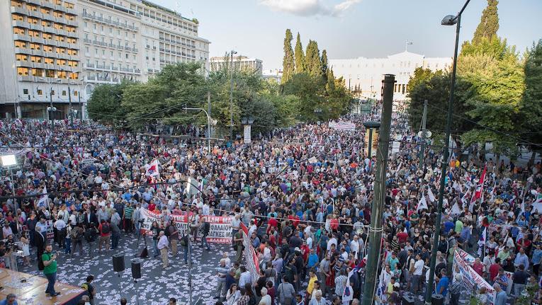 Yunanistan'da işçi sınıfı yağmaya karşı grevde