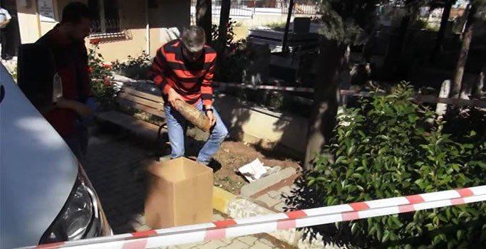 İstanbul'da mezarlıkta top mermisi bulundu