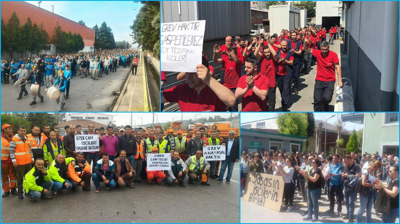 VİDEO HABER | İşçilerin birliği sermayeyi yenecek: Metal işçilerinden cam işçilerine destek eylemleri