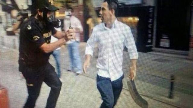Gezi'nin 'palalı'sı vuruldu