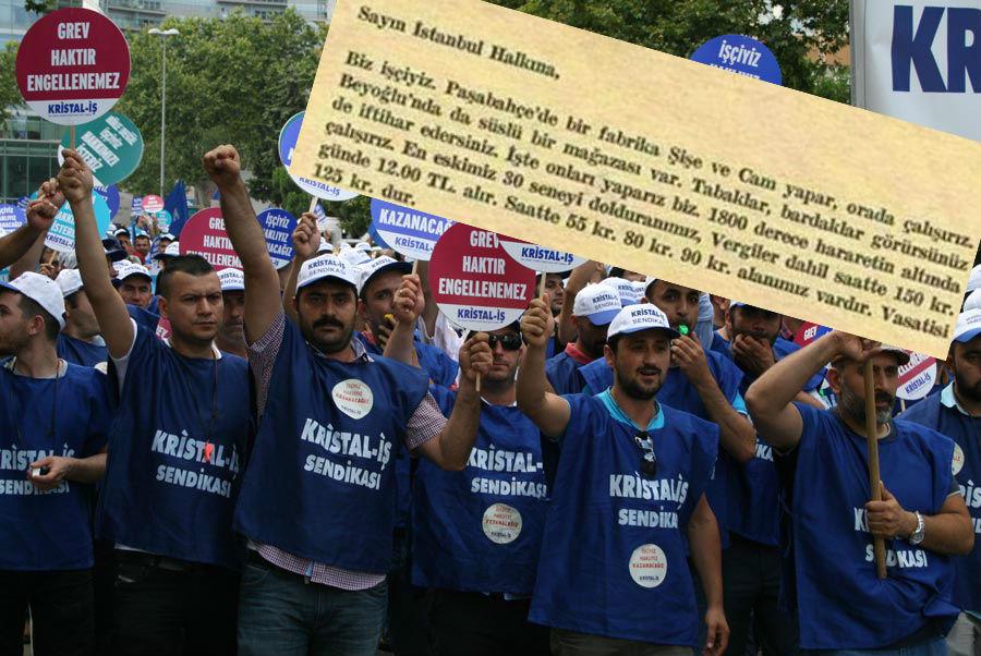 Sene 1966, grevdeki Şişecam işçisi İstanbul halkına sesleniyor: Sen de hemşehrim, sen de sesini yükselt...