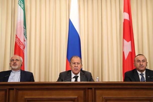 Rusya, Türkiye ve İran'dan Suriye ile ilgili ortak deklarasyon