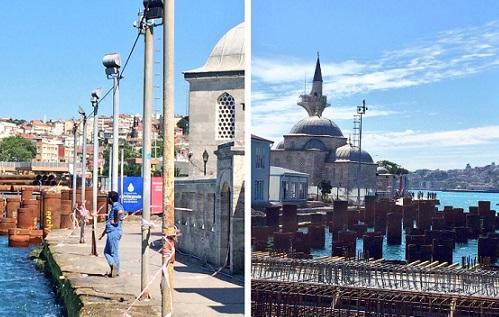 İstanbul'a bir'kazık' daha: Daha denizden uzaklaştırmadan duvarlarını çatlattılar!