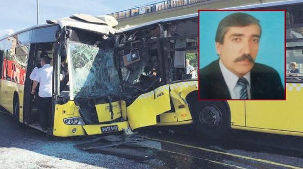 Metrobüslerin kafa kafaya çarpıştığı kazada ağır yaralanan sürücü kurtarılamadı