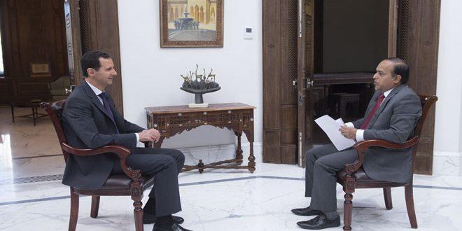 Beşar Esad: Suriye'de durum iyileşmeye devam ediyor, terörist gruplar geri çekiliyor