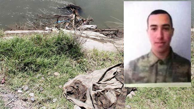 Sulama kanalına düşen asker kayboldu