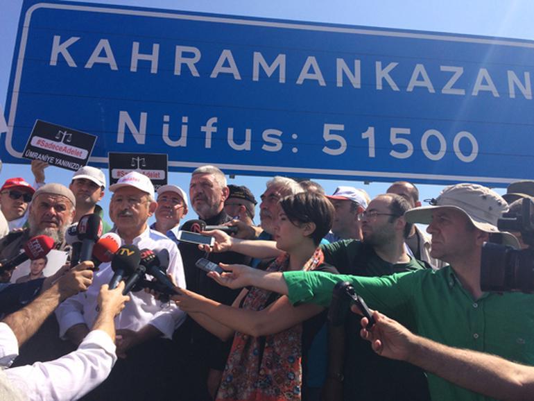 Kılıçdaroğlu Adalet Yürüyüşü'nün 3. gününde: Kavurmacı için verilen tutuklama kararı yanlış