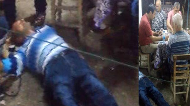VİDEO | Kahvehanede fenalık geçirip bayıldı, arkadaşları ise 'pes' dedirtti
