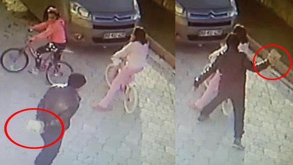 VİDEO | Kaldırım taşıyla çocuklara saldıran kişi başka bir kadını taciz ederken yakalandı... Ama serbest!