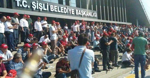 Şişli Belediyesi'nde bin işçi direnişe başladı