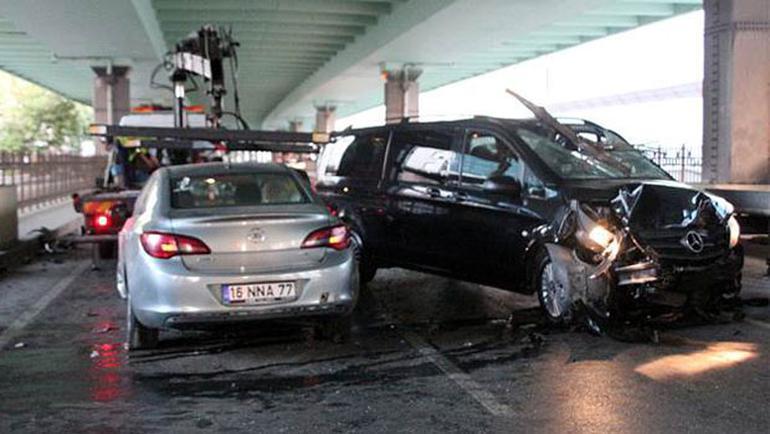 Mecidiyeköy'de feci kaza
