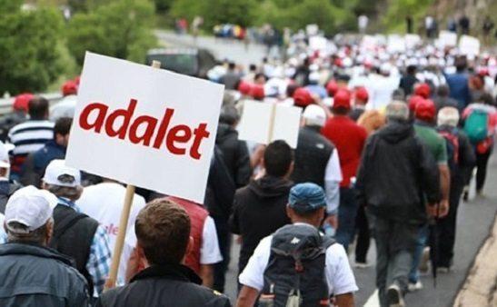 'Adalet Yürüyüşü'nün son 3 günlük programı belli oldu