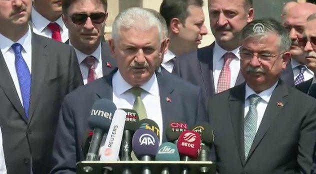 Yıldırım'dan ABD'ye çağrı: YPG'yi bırakın, yeniden bize geri dönün