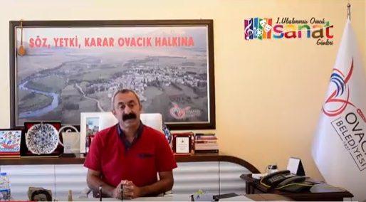 VİDEO | Komünist başkandan 1. Uluslararası Sanat Günleri'ne çağrı: Bu davet bizim...
