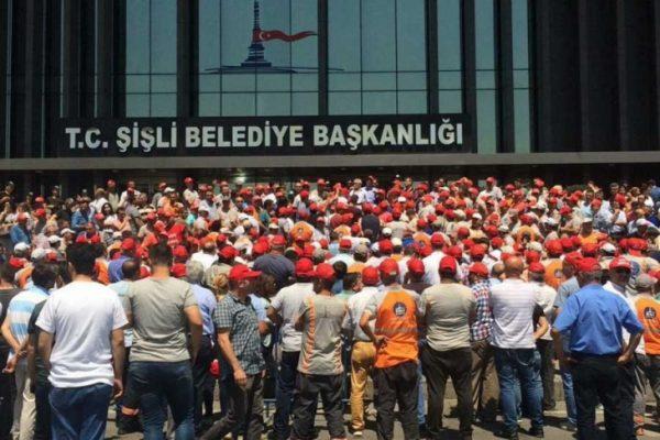 Şişli Belediyesi'nde 1171 işçi işten atılmaya direniyor