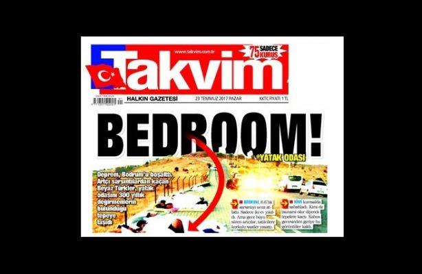 Gericilik mi, insanlığa düşmanlık mı? Bodrum'daki deprem sonrası insanlarla dalga geçen Takvim'de hepsi var!