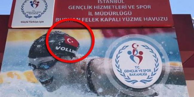 Bakanlıktan 'fotoşop'lu skandal: Dünya rekortmeni yüzücüyü böyle 'Türk' yapmışlar
