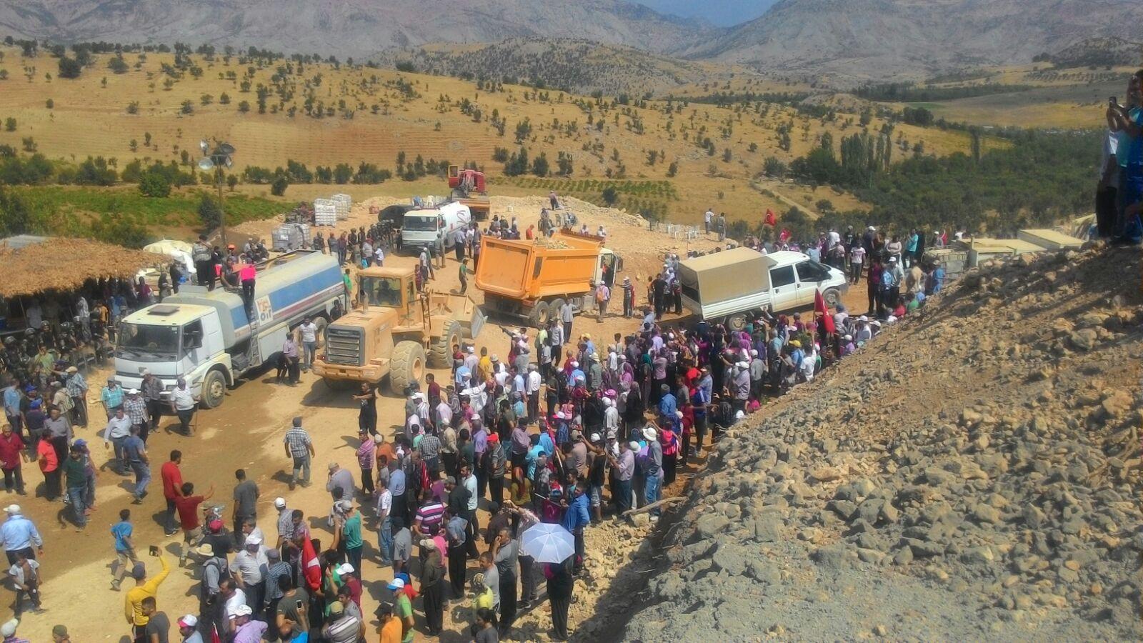 VİDEO | Heleteliler Gaziantep Büyükşehir Belediyesi'nin içme suyu projesine 'dur' dedi