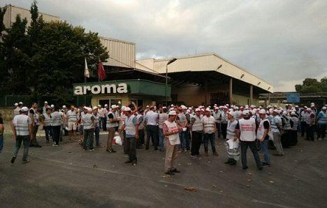 Aroma'da grev başladı!