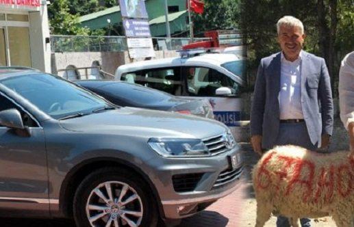 AKP'li başkanın yeni makam aracı sevinci: Kurban kestirdi, plakasını yazdırdı...