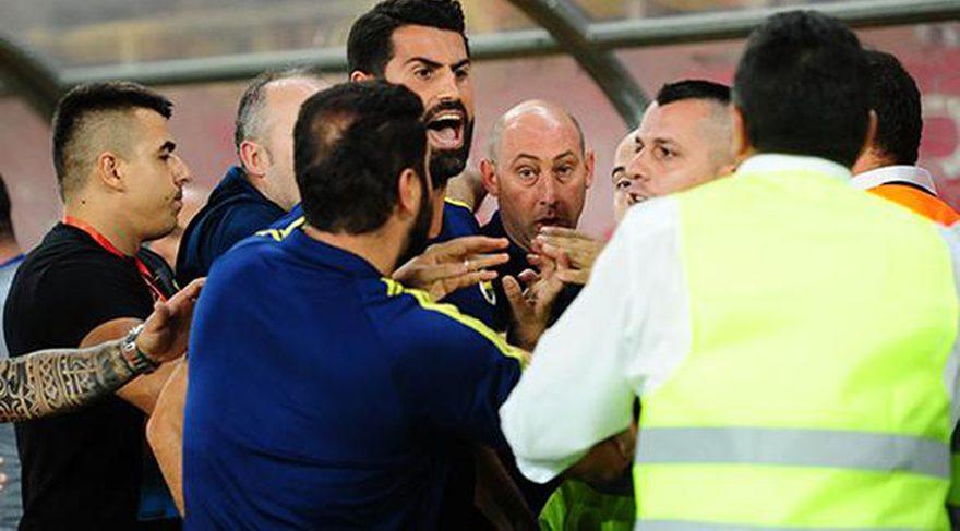 Vardar - Fenerbahçe maçının bitiminde olay