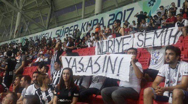 Beşiktaş taraftarlarının tutuklanması Meclis'te:'Yaşasın' yazan pankart, bıçaktan keskin mi?