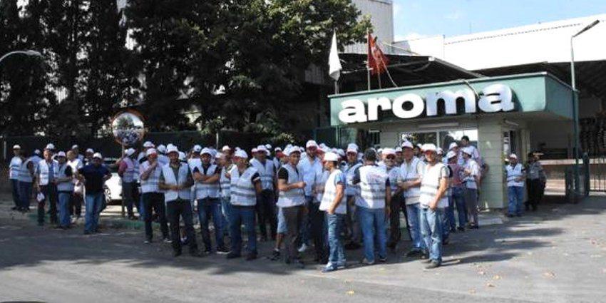 Aroma'da grev devam ediyor: Tek Gıda-İş'ten açıklama var