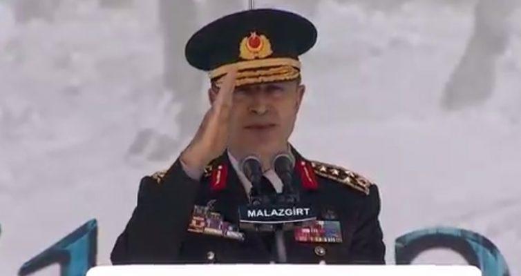 Erdoğan nerede Akar orada: Bu sefer adres Malazgirt