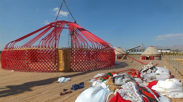 Erdoğan için kıl çadırlar kuruluyor