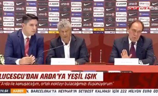 VİDEO | Lucescu'nun imza töreninde gerilim: