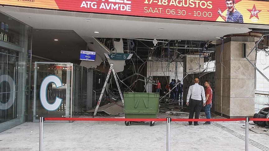 Açılışını geçen yıl Erdoğan yapmıştı: Ankara'da Yüksek Hızlı Tren Garı'nın tavanı çöktü!