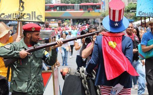 Venezuela'da emperyalist tehdide karşı büyük yürüyüş