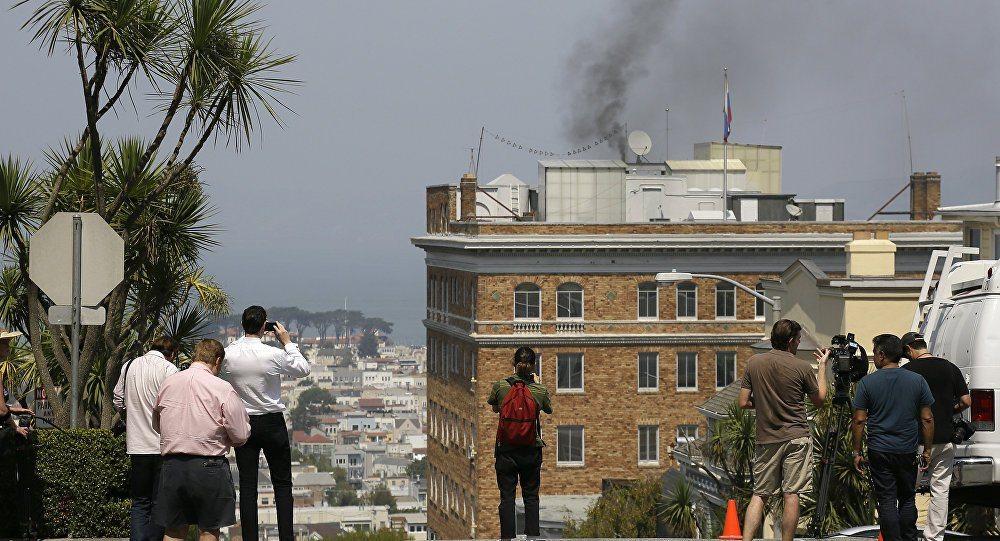 İşte San Fransisco'daki Rus konsolosluğundan çıkan siyah dumanın nedeni