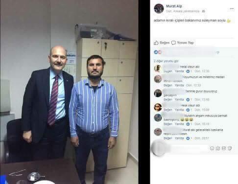 Erdoğan'ın 'alkollü bunlar' dediği cenaze saldırganının İçişleri Bakanı ile çekilmiş fotoğrafı ortaya çıktı!