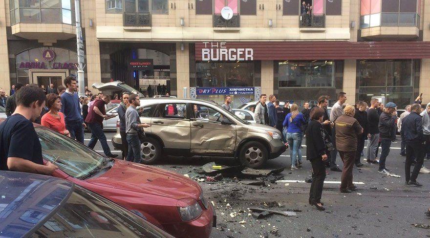 Kiev'de bombalı saldırı: 1 ölü, 2 yaralı