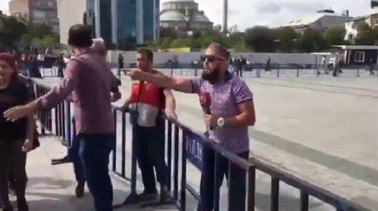 VİDEO | Beyaz TV'ye terfi eden gerici'muhabir'den Cumhuriyet davasında provokasyon