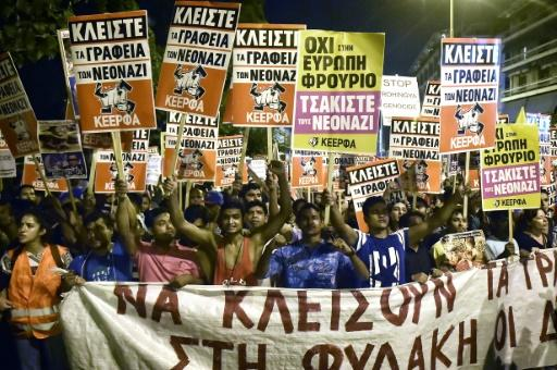 Yunanistan'da Altın Şafak karşıtı gösteride çatışma