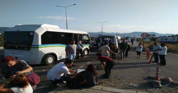 Okul yolunda büyük kaza: 41 yaralı var