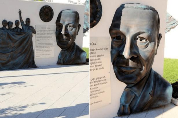 'Erdoğan'a benzemiyor' denilen anıt böyle savunuldu: