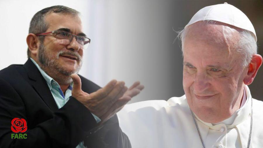 FARC lideri Timoleón Jiménez, Papa'dan af diledi