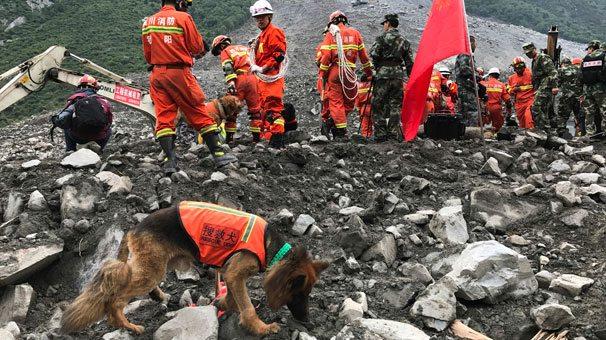 Çin'de heyelan: 7 ölü