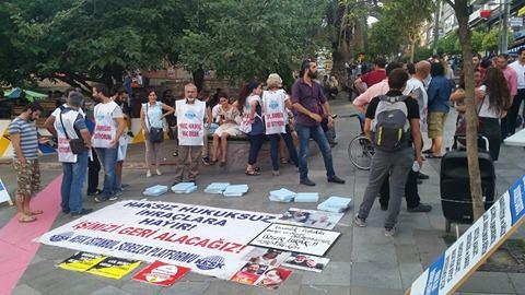 Kadıköy'de eylemdeki kamu emekçilerine taciz ve tehdit