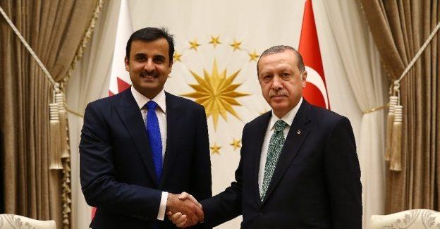 Erdoğan Katar Emiri'yle görüştü