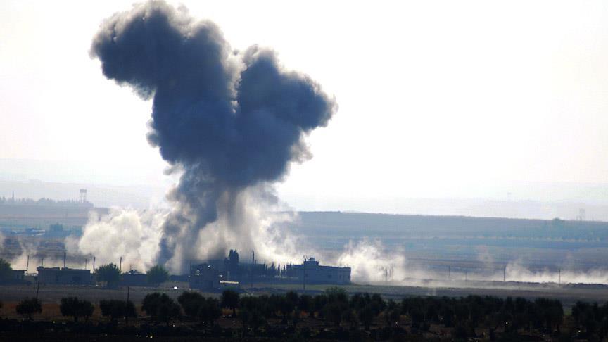 Koalisyon güçleri Haşdi Şabi'yi bombaladı