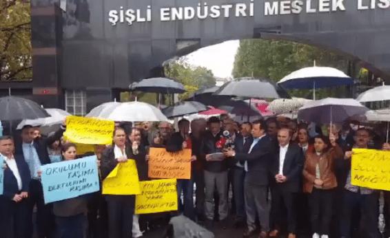 VİDEO | Şişli'de veli ve öğrenciler yine eylemde: Şişli EML yıkılmayacak!