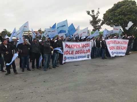 PAKPEN işçilerinin eylemi devam ediyor